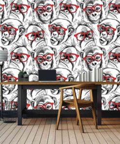 3D Wallpaper Animals Monkey